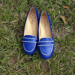 Tori Kline royal blue driving loafers size 7.5